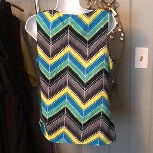 Banana Republic Tops - Banana Republic blue/green chevron blouse size med